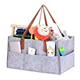 Longshow Baby Diaper Caddy Nursery Storage Organizer Storage Caddy Car Organizer Basket for Diapers Baby Wipes Toys