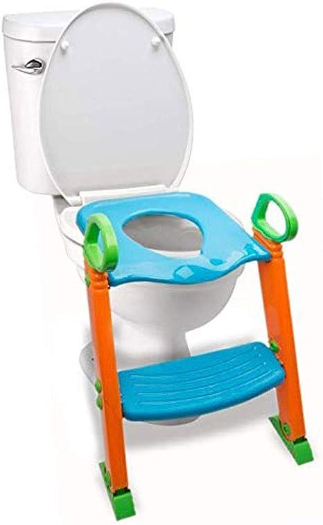 Orinal con escalera de taburete, entrenador 3 en 1 for niños pequeños con asas.Robusto, cómodo, seguro, construido en pasos antideslizantes con almohadillas antideslizantes.Excelente asiento de inodor: Amazon.es: Bebé