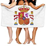 Unisex Spain Flag Creating Personalised Custom Bath Towels 100% Polyester,Superfine Fiber Super Absorbent,for Home/Bathrooms/Pool/Gym (31'' 51'')