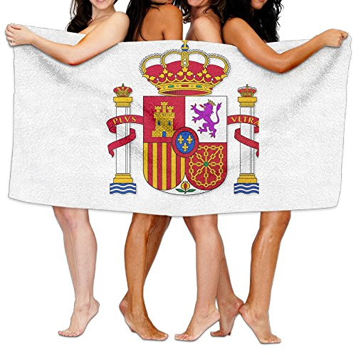 Unisex Spain Flag Creating Personalised Custom Bath Towels 100% Polyester,Superfine Fiber Super Absorbent,for Home/Bathrooms/Pool/Gym (31'' 51'') by TRUSKC