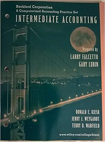 Intermediate Accounting Rockford Corporation A