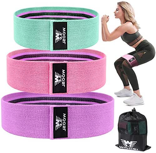 WOOSL Resistance Bands for Legs and Butt,Exercise Bands Hip Bands Wide Booty Bands Workout Bands Sports Fitness Bands Stretch Resistance Loops Band Anti Slip Elastic (2019 Upgrade)