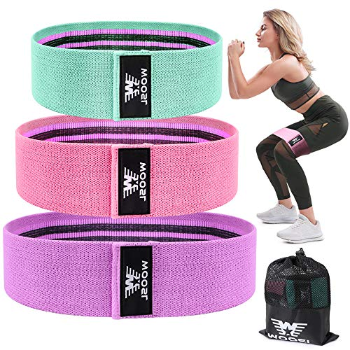 WOOSL Resistance Bands Legs Butt, Exercise Bands Resistance Band Hip Bands Wide Booty Bands Workout Bands Sports Fitness Bands Stretch Resistance Loops Band Anti Slip Elastic (2019 Upgrade) (Best Squats For Your Bum)