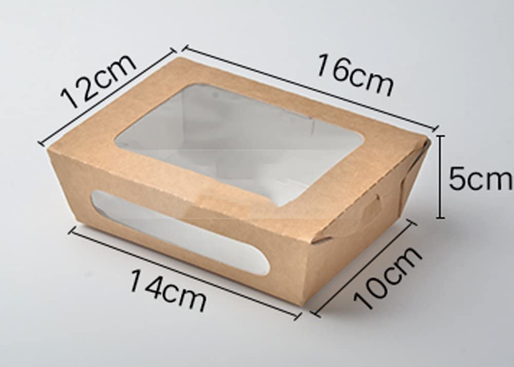 jiangu, caja de comida rápida (100), caja de Kraft para ensalada, desechables caja de aperitivo, Sushi Takeout paquete caja, caja de almuerzo, caja de almuerzo, 760ml: Amazon.es: Hogar