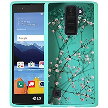 LG K8 V Case, LG K8V Case, Linkertech Air Hybrid Ultra Slim Shockproof Drop Protection Bumper Case Back Cover for LG K8 V (2016) VS500 (Verizon) (Plum Blossom)