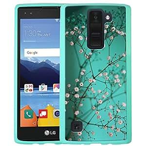 LG K8 V Case, LG K8V Case, Linkertech Air Hybrid Ultra Slim Shockproof Drop Protection Bumper Case Back Cover for LG K8 V (2016) VS500 (Verizon) (Plum Blossom)