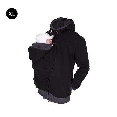 Jacke Baby WarmeMantel Multifunktions Babytrage Männer Fleece Mit Hoodie Sweatshirt Bis Tasche Känguru Winter 332pageann Pullover vOmw80Nn