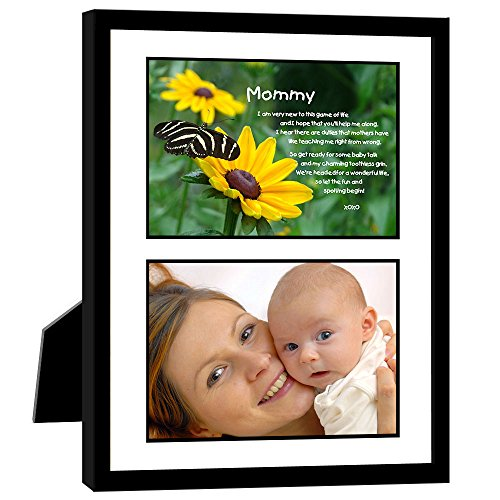 Birthday or Mother's Day Gift for New Mom from Baby Daughter or Son, Sweet Poem in 8x10 Inch Frame, Add Photo (Frame Poem Picture Wooden)