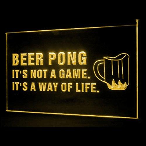 ay of Life Bar Beer Overindulgence Display LED Light Sign ()