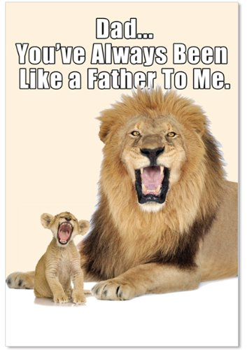 9857 'Like a Father' - Funny Father's Day Greeting Card with 5