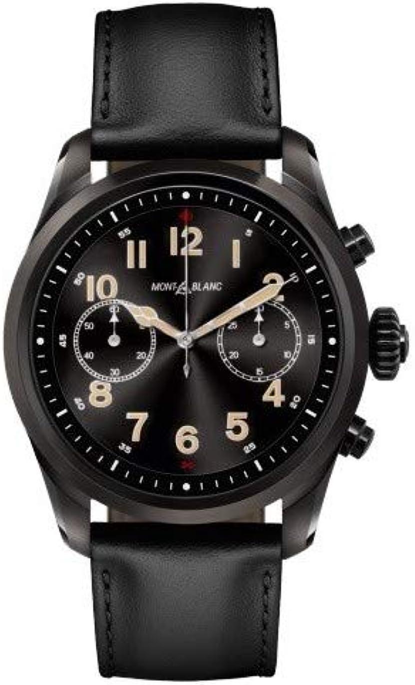 Reloj Montblanc Summit 2 Smartwatch 119438 Acero Negro Piel Negra