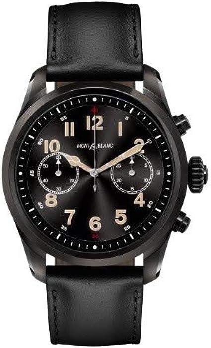 Amazon.com: Montblanc Summit 2 Smartwatch 119438 Black Steel ...