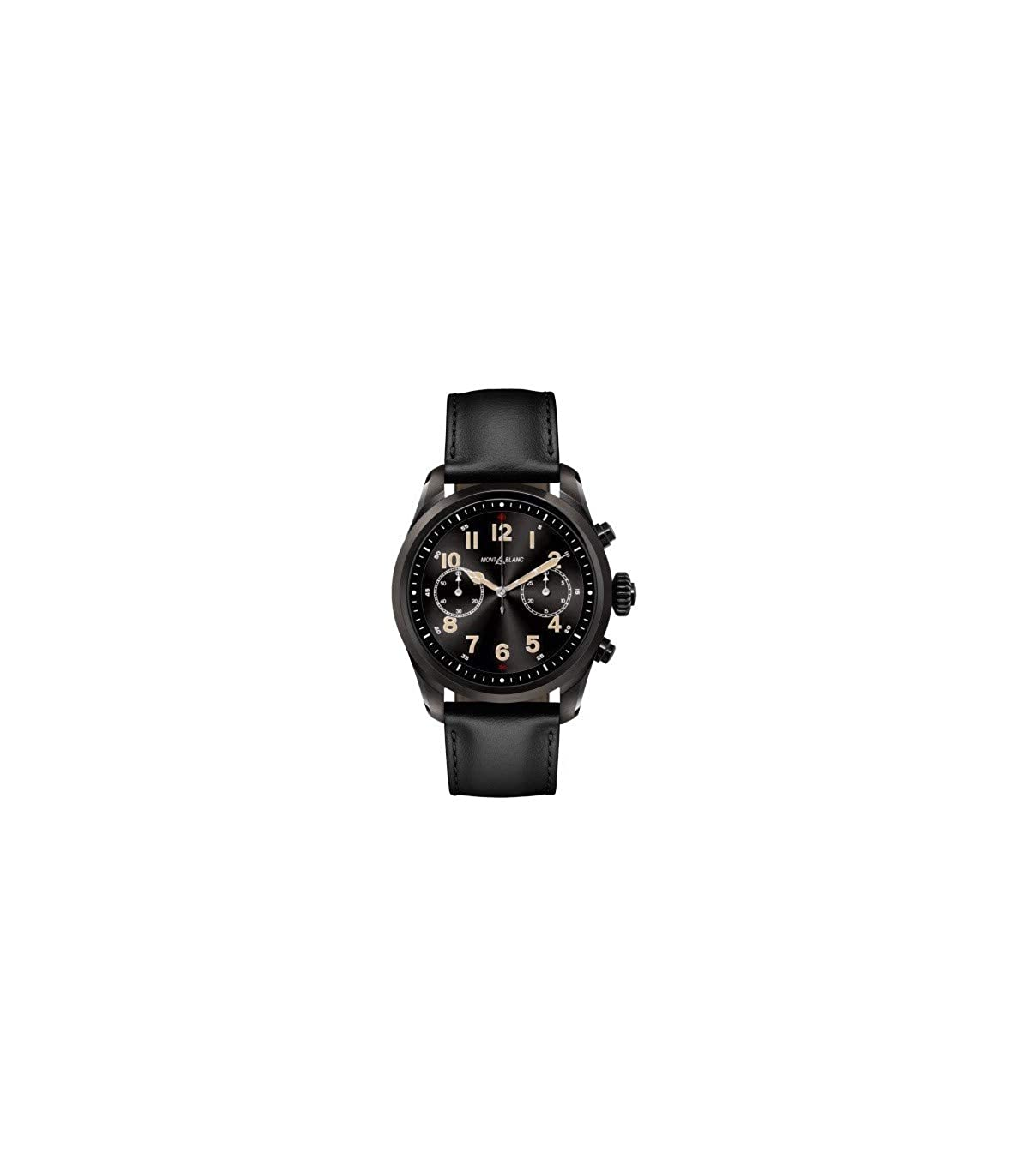 Reloj Montblanc Summit 2 Smartwatch 119438 Acero Negro Piel ...