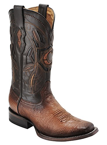 Cuadra Smooth Ostrich Western Boots Square Toe (9 2E US, Flame Brandy)