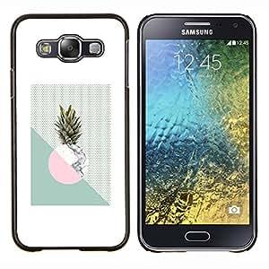LECELL--Funda protectora / Cubierta / Piel For Samsung Galaxy E5 E500 -- Piña Luna Weed Verde Blanco --
