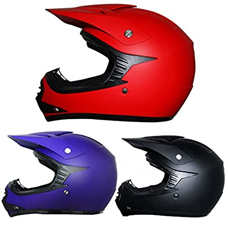 Leopard LEO-X15 Kids Motocross Motorbike MX Helmet - Matt Red M (51-52cm) ATV Dirt Bike BMX Off Road Helmet Touch Global Ltd