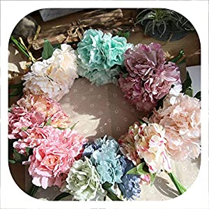 Memoirs- 5 Heads Peony Silk Flower Bridal Bouquet Artificial Flower for DIY Home Wedding Party Decoration 99