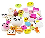 10 Pieces Random Squishy Charms Kawaii Soft Foods Jumbo Medium Mini Squishies Cake/Panda/Bread/Buns Phone Charm Key Chain Strap
