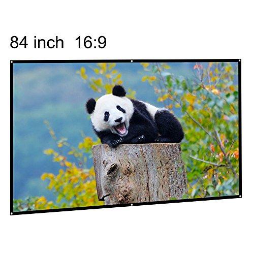 Projection Screen Portable 84 Inch 16:9 Diagonal Portable DI