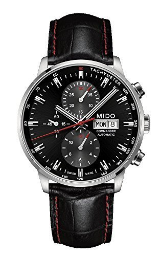 mido-commander-ii-black-leather-automatic-watch-md-m0164141605100