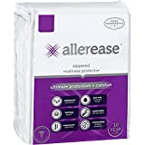 AllerEase Ultimate Protection and Comfort Waterproof, Bed Bug, Antimicrobial Zippered Mattress Protector - Vinyl Free & Hypoallergenic - 10 Year Warranty, Queen