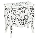 AA Importing 70351 Two Drawer Bombay Chest, Black/White