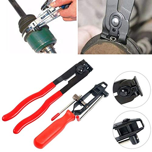 Graysky 2PCs CV Clamp and Joint Boot Clamp Pliers Tool Set Ear Type Boot Clamp Pliers (A)