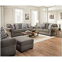 Simmons Upholstery 4530-02 Tokyo Pebble Tokyo Pebble Loveseat, Gray