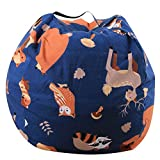 Dodd Kid's Stuff'n Sit - Stuffed Animals Storage Bean Bag Pouf -Available in 3 Sizes- Clean up the Room and Put Those Critters to Work for You (18 inch)