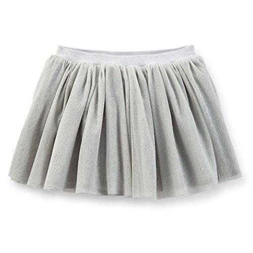 Carters Baby Girl Grey Glitter Tulle Tutu Skirt - 6 months