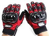 Motorcycle Accessories Pro-Biker Motocross Racing ATV UTV Outdoor Sport Finger Protective Carbon Fiber Gloves Red Size M For HONDA TRX500FPM 2008 2009 2010 2011 2012 2013 2014