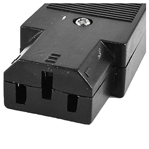 R Transmedia IEC 320 C13 adaptador de corriente de enchufe femenino conector rewirable AC 250V 10A Negro TOOGOO Enchufe C13 Conector