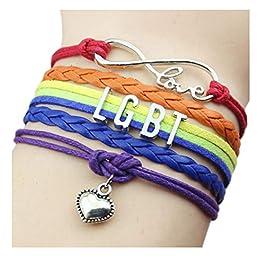 Bracelet LGBT avec Coeur