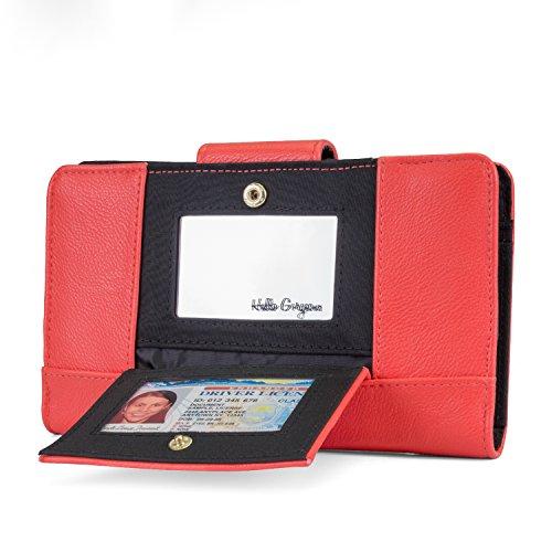 UPC 077979552427, Tahari Full Deck Small Womens RFID Clutch Wallet (Red)
