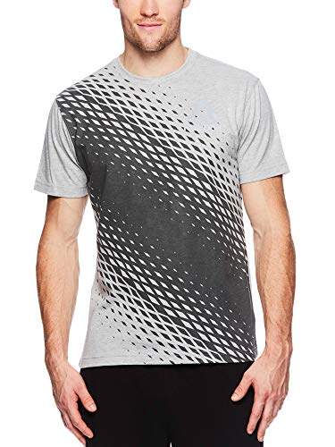 Soccer Short Sleeve Graphic Tee (Reebok Men's Graphic Workout Tee - Short Sleeve Gym & Training Activewear T Shirt - Vortex Grey Heather, X-Large)