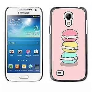 TopCaseStore / la caja del caucho duro de la cubierta de protección de la piel - Happy Green Pink Cute Art - Samsung Galaxy S4 Mini i9190 MINI VERSION!
