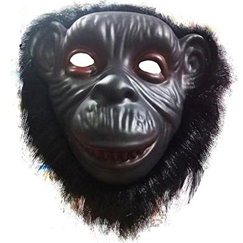 Mardi Gras Party Masquerade Mask,Animal mask Lion Wolf Orangutan Monkey Leopard Child Toy Orangutan Prom Masks ()