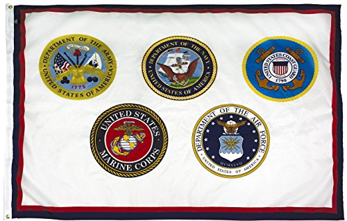 - FlagSource U.S. Armed Forces Nylon Military Flag, Made in The USA, 3x5'