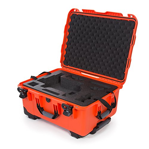 Nanuk Ronin M Waterproof Hard Case with Wheels and Custom Foam Insert for DJI Ronin M Gimbal Stabilizer Systems - 950-RON3 Orange