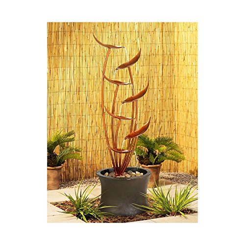 "John Timberland Tiered Copper Leaves Indoor Outdoor 41"" High Fountain"