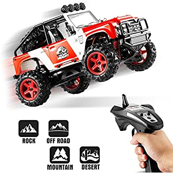 RC Cars, Abask 40+MPH 2.4GHz 4x4 1/22 Remote Radio Control Cars High Speed Off-road Racing High-Performance Trucks Shockproof Electronics Best Gift For Children Truck Lovers(red)