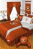 Texas Longhorns QUEEN Size 14 Pc Bedding Set (Comforter, Sheet Set, 2 Pillow Cases, 2 Shams, Bedskirt, Valance/Drape Set - 84 inch Length & Matching Wall Hanging) - SAVE BIG ON BUNDLING!