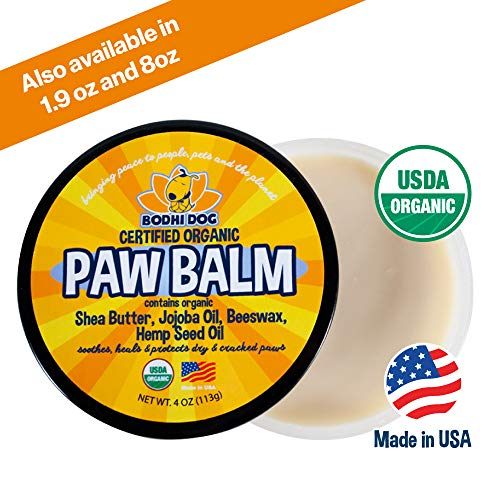 Organic Paw Balm for Dogs & Cats | All Natural Soothing & Healing for Dry Cracking Rough Pet Skin | Protect & Restore Cracked and Chapped Dog Paws & Pads - Pad Rough