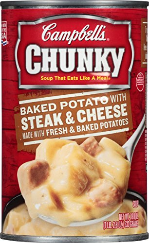 Campbell's Chunky Soup, Baked Potato with Steak & Cheese, 18.8 Ounce (Pack of 12)