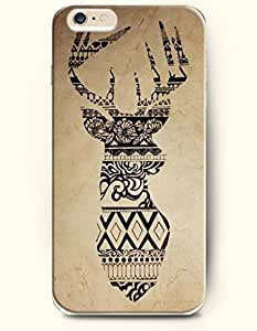 iPhone 6 Plus (5.5 inch) Case, OOFIT Phone Cover Series for Apple iPhone 6 Plus (5.5 inch) Case -- Brown Black Special Reindeer Deer Design