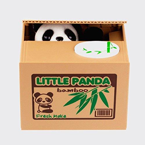 LMTECH Little Panda Money Bank Saving Box Panda Money Box Stealing Coin Panda