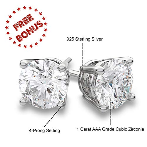 0bbc541bcfd4 Bellux Women 2-Piece Wedding Rings Stainless Steel 2.3 Carats Cubic  Zirconia Anniversary Promise Ring
