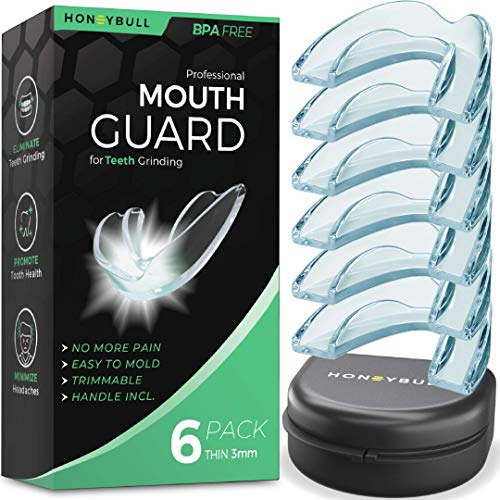 HONEYBULL Mouth Guard for Grinding Teeth [6 Pack] 1