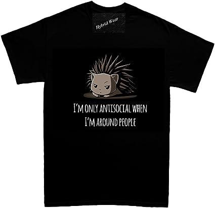 Nueva camisas Antisocial Mens T Shirt: Amazon.es: Ropa y accesorios