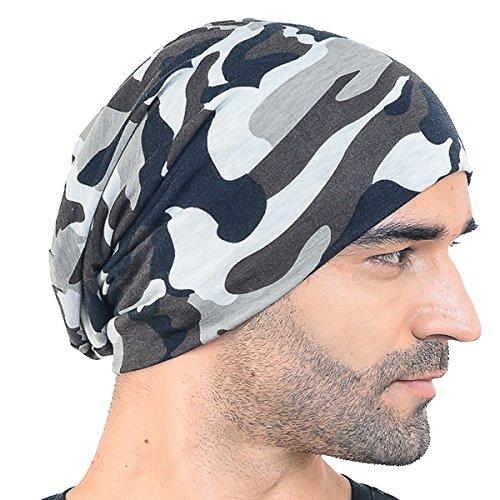 Men Slouch Hollow Beanie Thin Summer Cap Skullcap B018h (Camouflage)